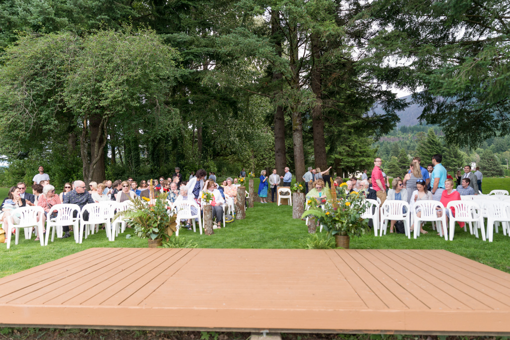Wedding ceremony at Thunder Island