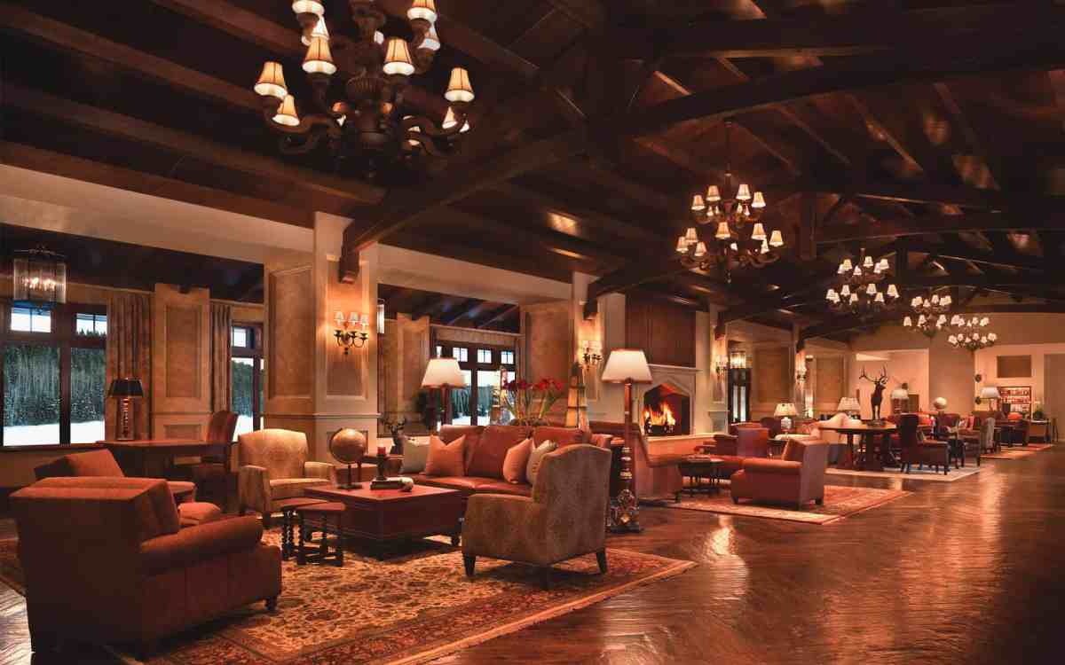 View of hotel lobby at Montage Deer Valley