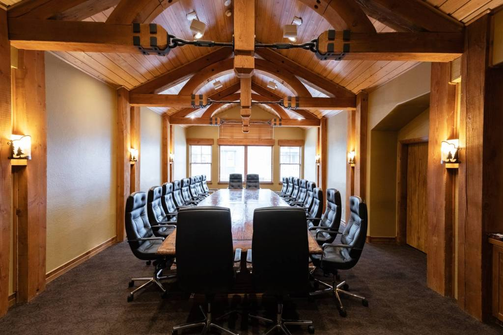 View of meeting room boardroom