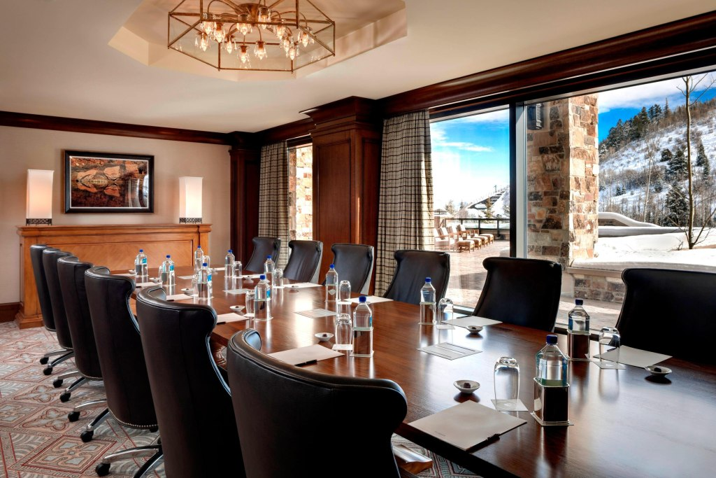 Photo of boardroom meeting setup