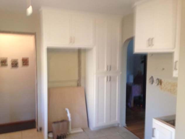 New Cabinets Around Fridge