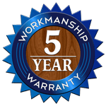 EJ Timmers 5 Year Workmanship Warranty