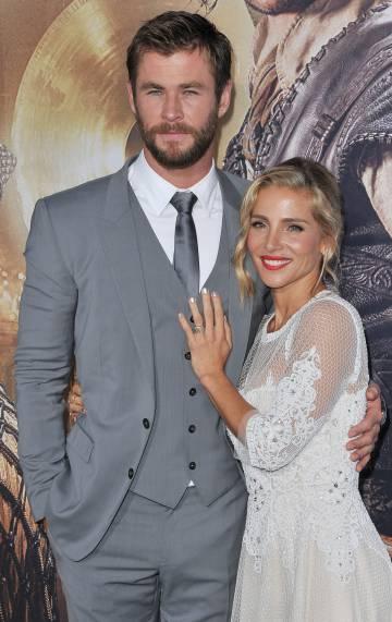 Chris Hemsworth y Elsa Pataky durante el estreno de la última película del actor.