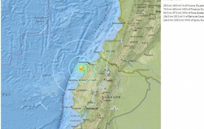 Nuevo sismo de magnitud 6,1 sacude costa de Ecuador la madrugada de este miércoles