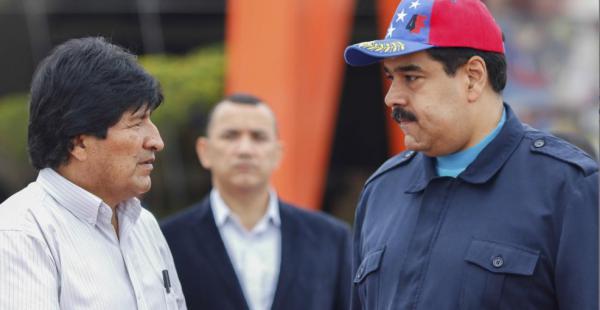 El presidente Evo Morales se reunión con su par venezolano, Nicolás Maduro