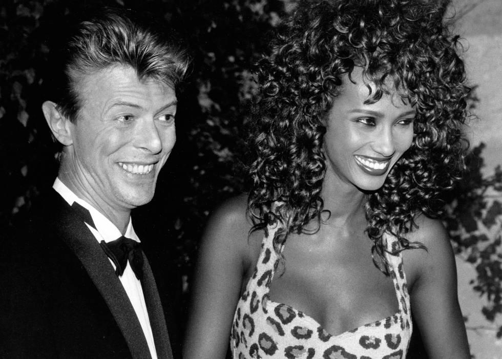 David Bowie e Iman Abdulmajid en 1991, un año antes de casarse.