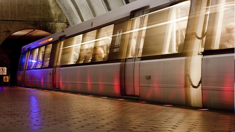 Estación de metro Tenleytown, Washington, EE.UU. Foto ilustrativa.