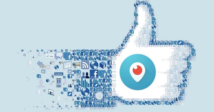 Facebook y logo periscope