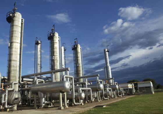 Planta de almacenamiento de gas de YPFB en Santa Cruz (Bolivia)