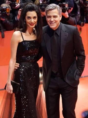 Amal y George Clooney en el Festival de Cine de Berlín.