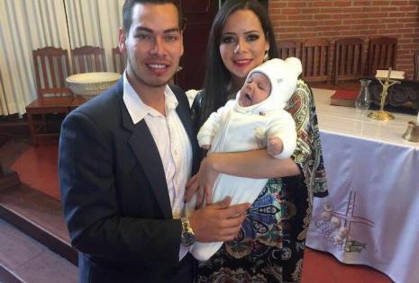 Los padrinos de Dieguito son Carlos Andrés Gutiérrez y Maria Renee Gutiérrez