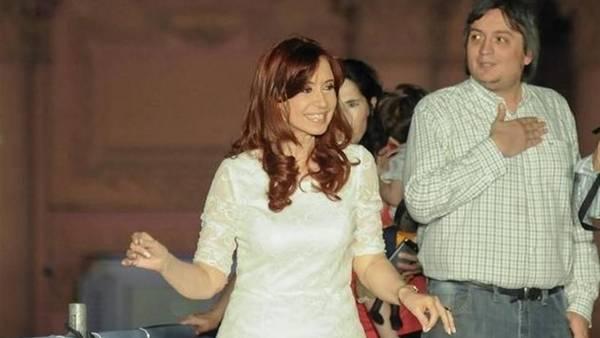 Cristina y Máximo, en uno de los últimos actos cuando ocupaban la Casa Rosada.