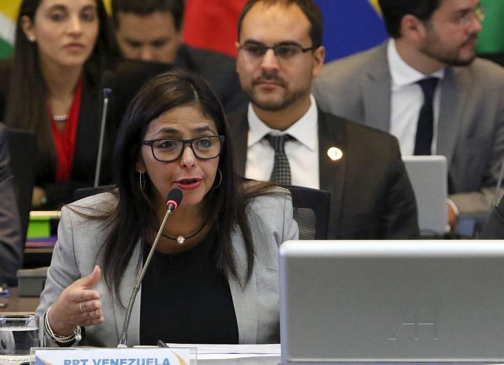 La canciller de Venezuela, Delcy Rodríguez