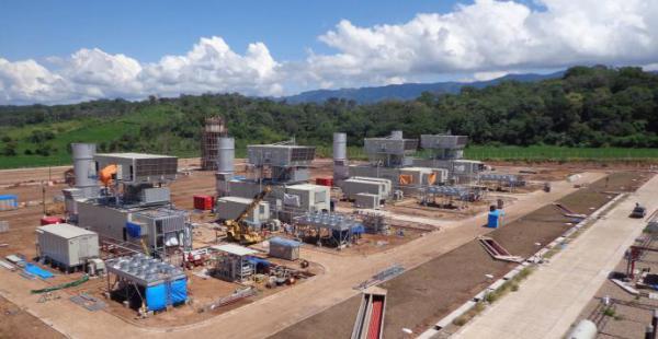 La planta termoeléctrica del Sur