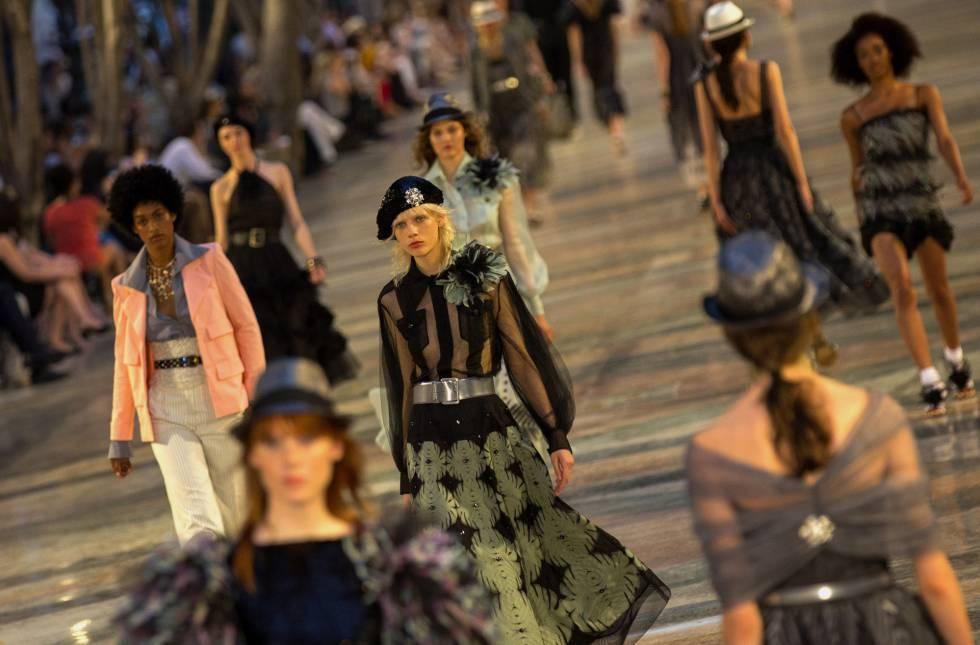 Desfile de la colección crucero de Karl Lagerfeld para Chanel, el pasado 3 de mayo en La Habana.