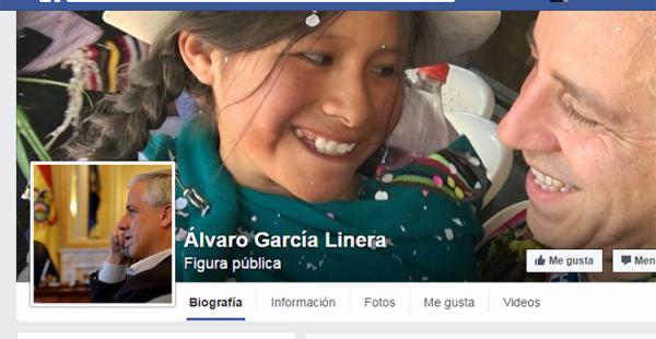 Álvaro García Linera ya tiene una cuenta en Facebook