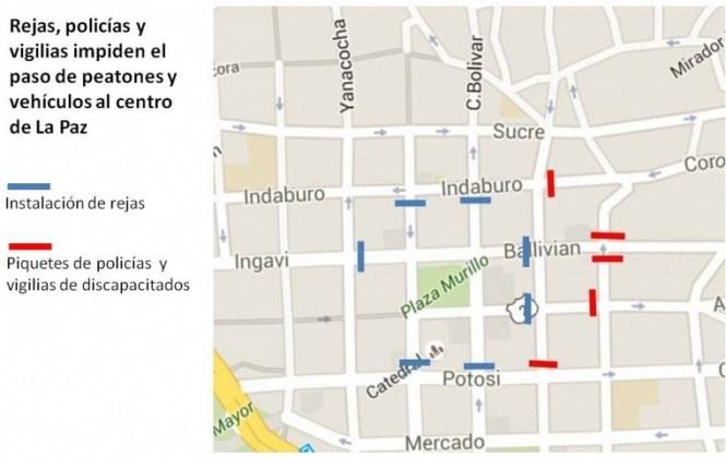 Rejas, policías y vigilias impiden que el presidente Morales ingrese con normalidad a Palacio de Gobierno