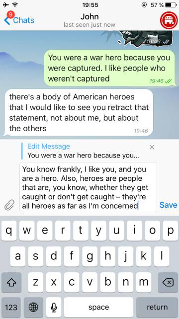 Mensajes de Telegram