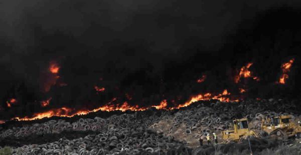 El incendio se dio en la localidad madrileña de Seseña