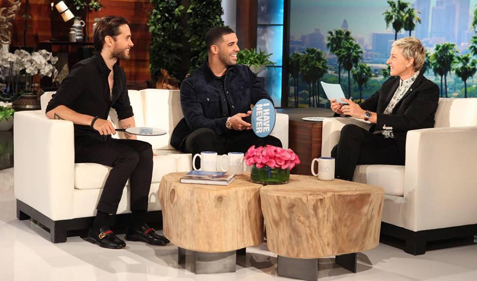 Jared Leto, Drake y Ellen DeGeneres.