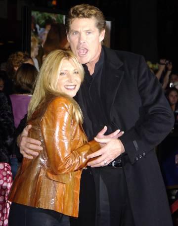 Pamela Bach y David Hasselhoff en Los Ángeles, en 2005.