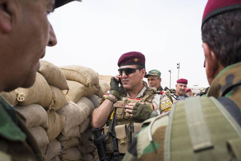 El jefe de las fuerzas especiales de los peshmerga, Almi Mosuri