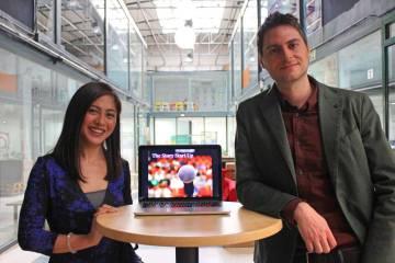 Kay Fabella y Pablo Laporte, emprendedores.