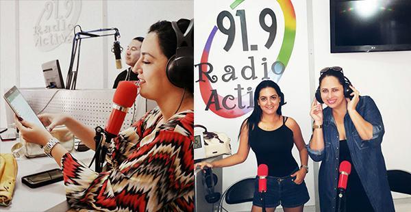 Alejandra Áñez colorea a sus invitados en su show radial