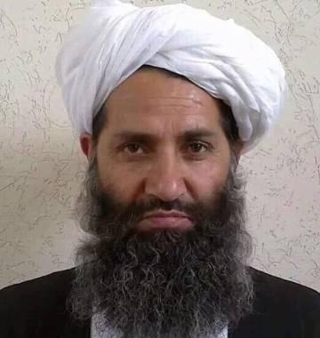 Haibatullah Akhundzada en una foto suministrada por los talibanes afganos en 2015.