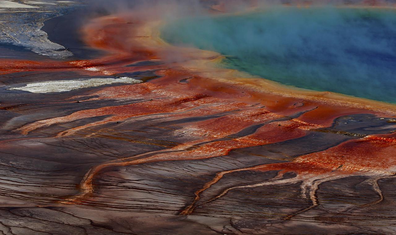 La Gran Fuente Prismática, en el Parque Nacional Yellowstone de EE.UU.