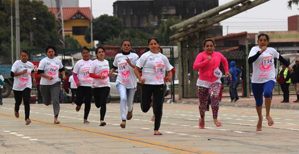 La categoría más numerosa fue la de 41 años en adelante. Compitieron madres, hijas, amigas, comadres y colegas en una pista de 150 metros