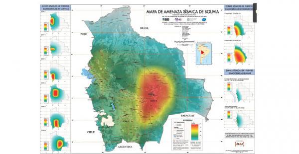 Mapa de Amenaza Sismológica en Bolivia elaborado por el Observatorio San Calixto