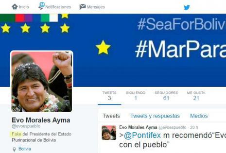 Cuenta falsa Evo Morales