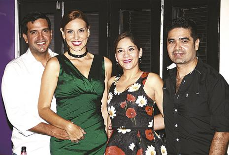 José Zankiz, Gabriela Oviedo, Angélica Mérida y Diego Suárez
