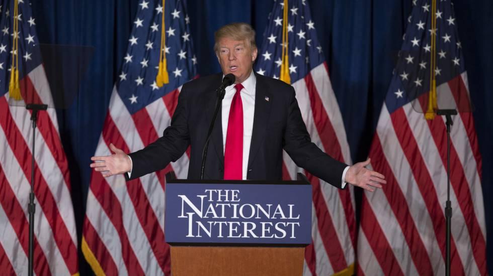 El candidato republicano Donald Trump.