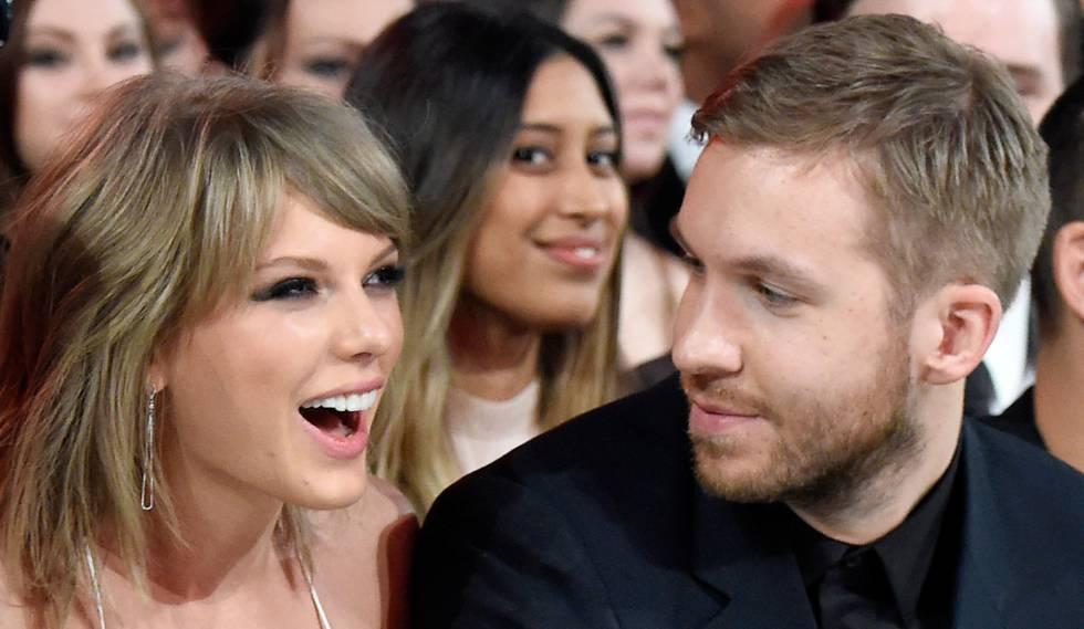 Taylor Swift y Calvin Harris en los premios Billboard de 2015.