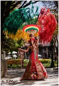 Robo  Miss Perú vistió el traje de la diablada a pesar de las ... 513d24af6595