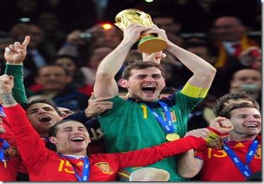 Télam Johannesburgo 11/07/2010 España venció a  Holanda 1 a 0 y se consagró Campeon del Mundo en el estadio Soccer City, de Johannesburgo. Foto: Juan Roleri/enviado especial/Télam/cf