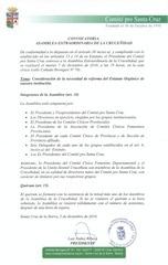 Convocatoria Asamblea Extraordinaria 07.12.10