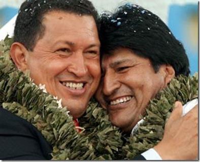 Hugo Chavez   Evo Morales
