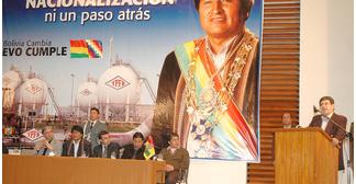 Presidente Morales recordará 5 años de nacionalización de los hidrocarburos