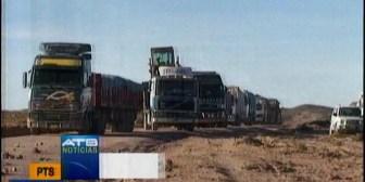 Nuevamente está bloqueada la carretera Oruro-Potosí