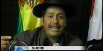 Gobernador de Chuquisaca molesto por presencia de opositores en Sucre