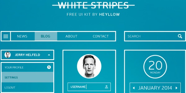 White stripes UI