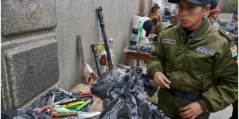 Policía halla cocaína, billetes falsos y objetos punzo cortantes en requisa en penal de San Pedro