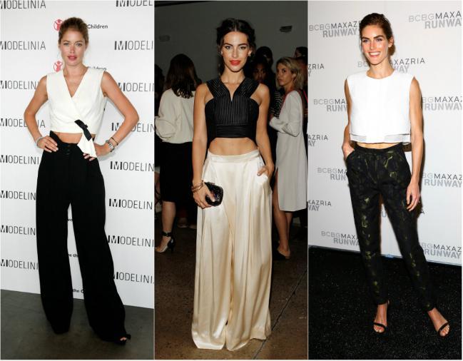combinar un pantaln con un crop top es una gran tendencia de la moda si tienes una fiesta elegante y sofisticada elige una tendencia minimalista con
