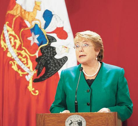 La presidenta de Chile Michelle Bachelet.