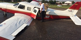 Aterriza de emergencia avioneta que transportaba al Gobernador