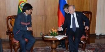 Presidentes Evo Morales y Vladimir Putin se reunirán el día 24 en Teherán