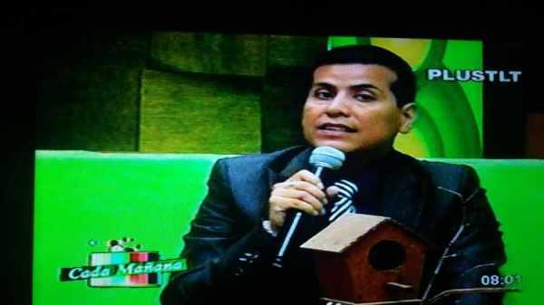 El fiscal de Distrito Gilbert Muñoz, en los estudios de PLUSTLT